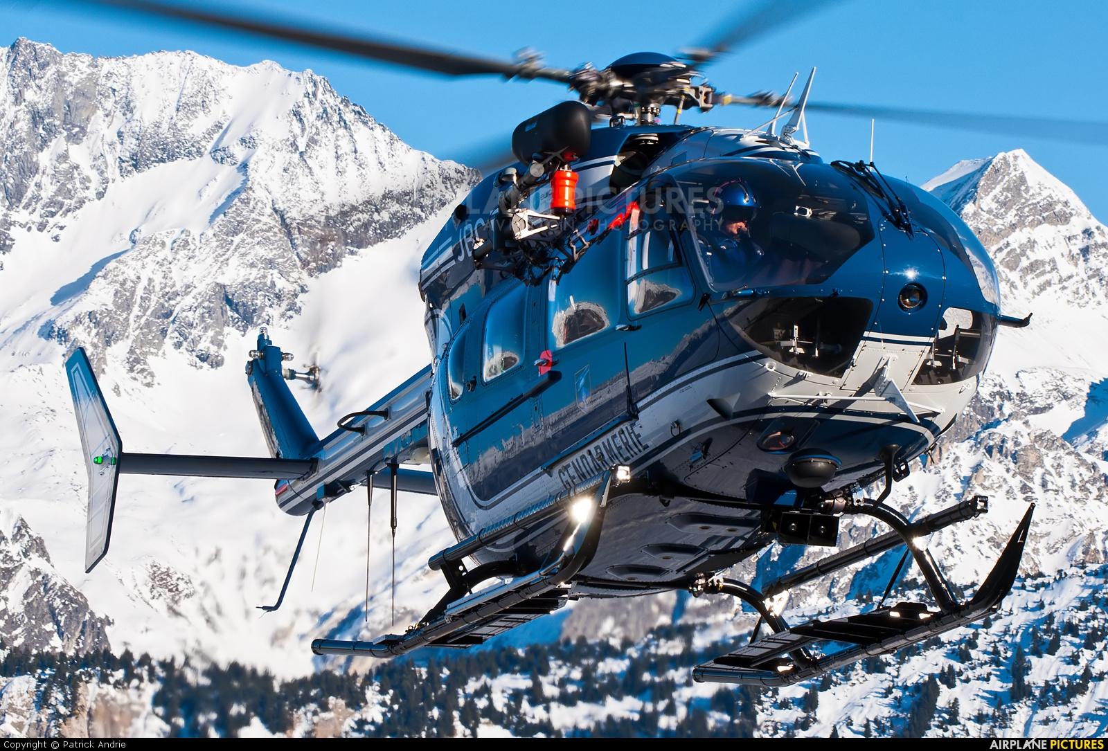 France - Gendarmerie F-MJBC aircraft at Courchevel