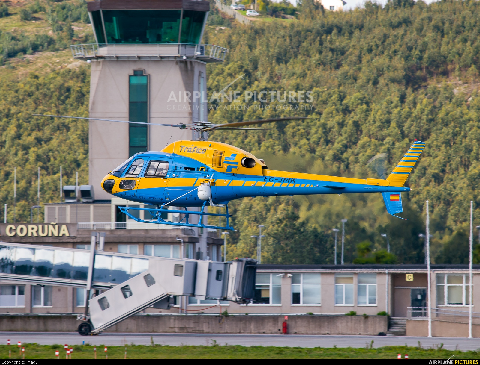 Spain - Government EC-JMK aircraft at La Coruña