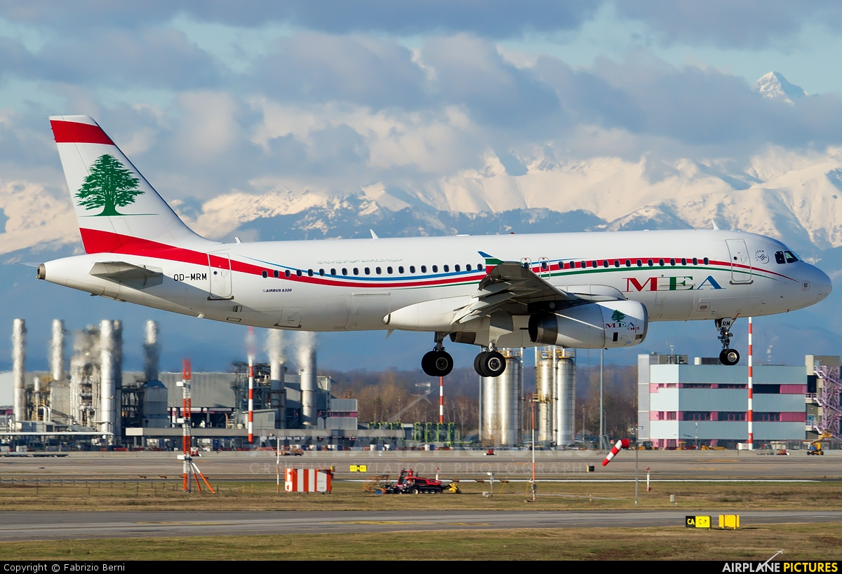MEA - Middle East Airlines OD-MRM aircraft at Milan - Malpensa