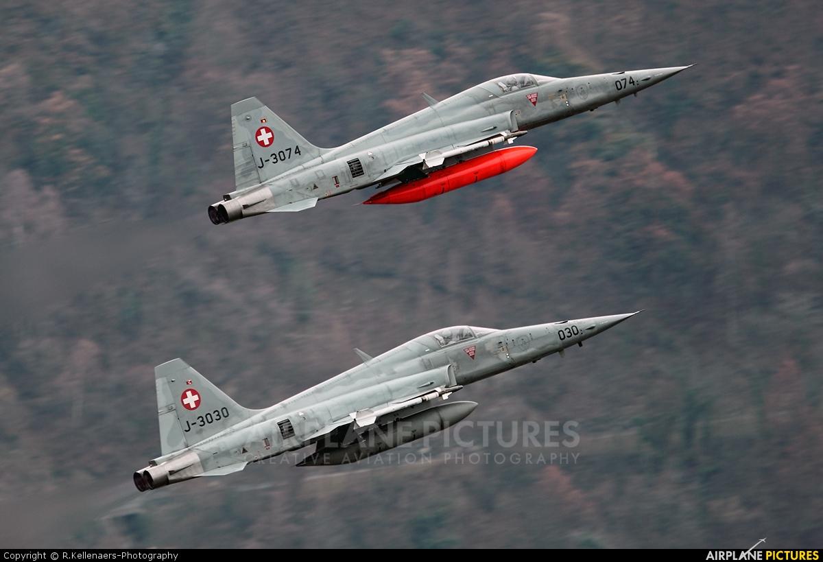 Switzerland - Air Force J-3074 aircraft at Sion