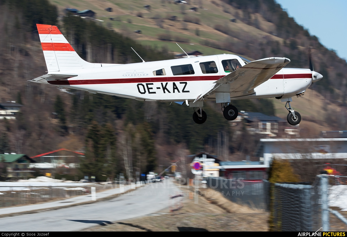 Private OE-KAZ aircraft at Zell am See