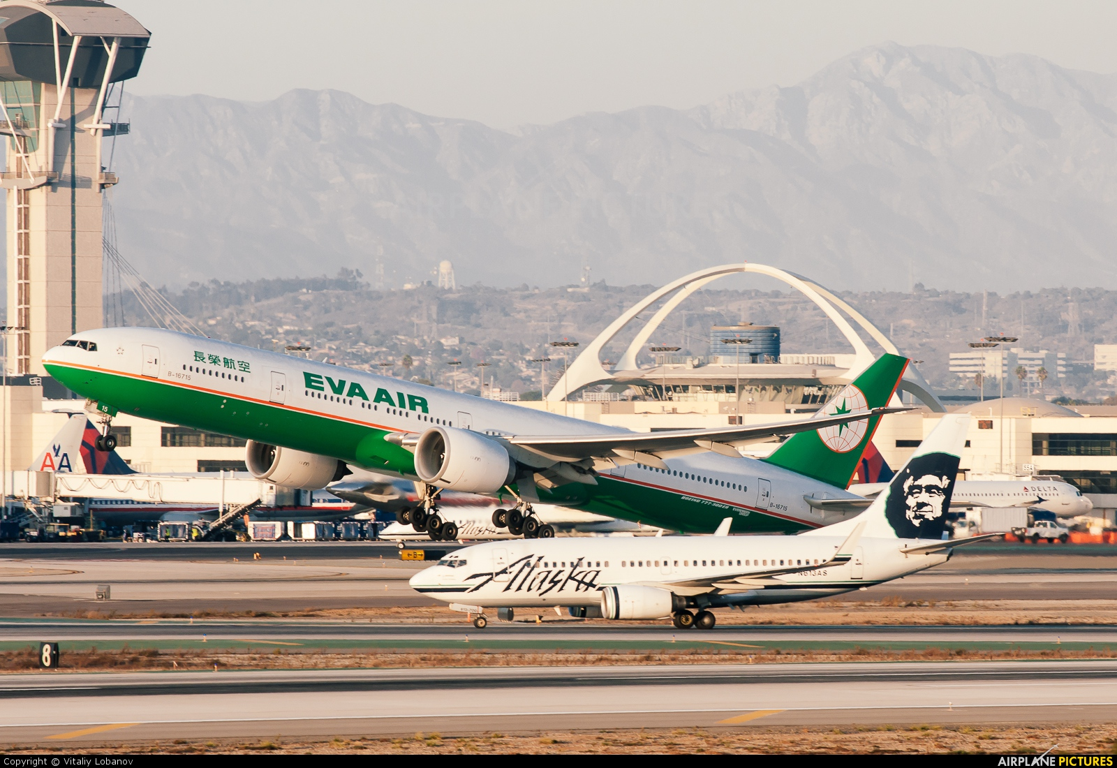 Eva Air B 16715 Aircraft At Los Angeles Intl