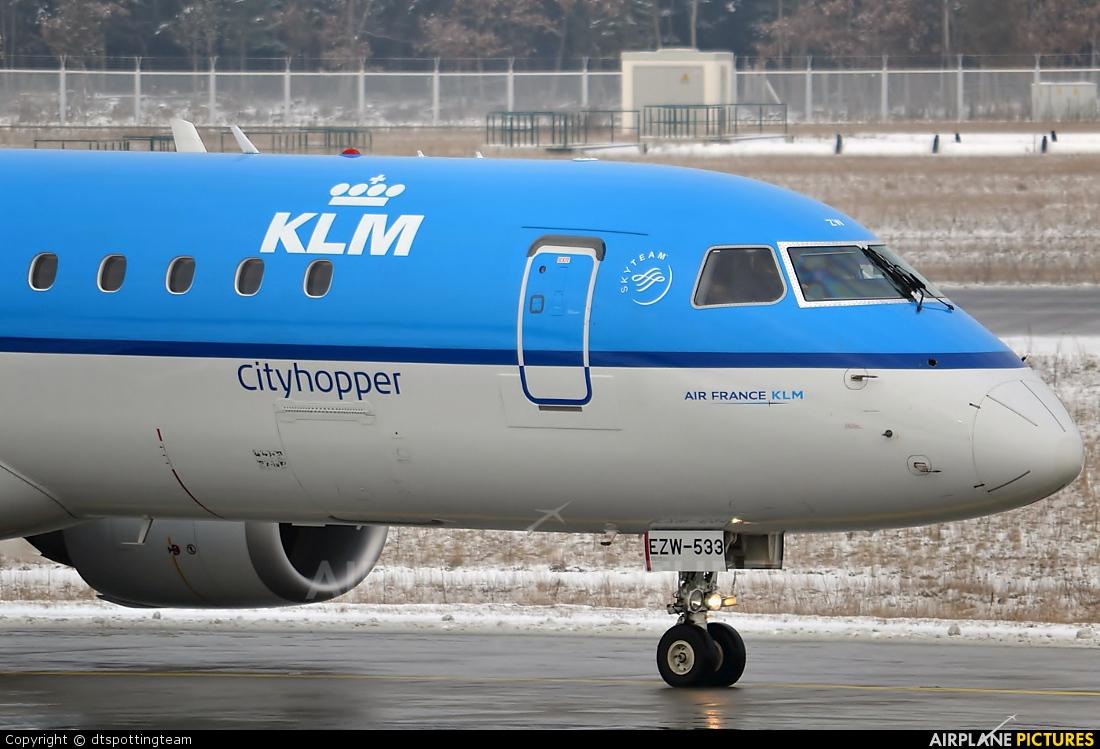 KLM Cityhopper PH-EZW aircraft at Frankfurt