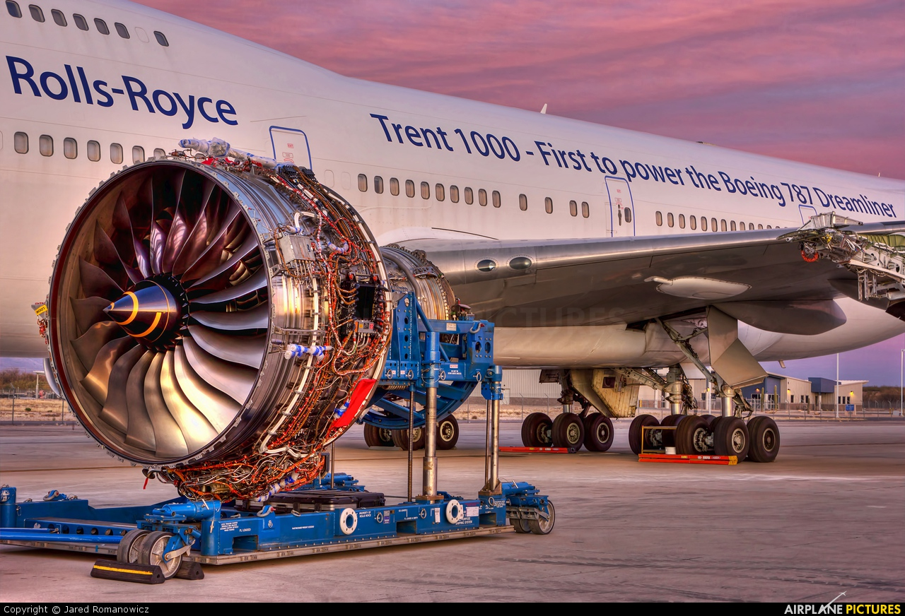 Rolls Royce N787RR aircraft at Tucson Intl