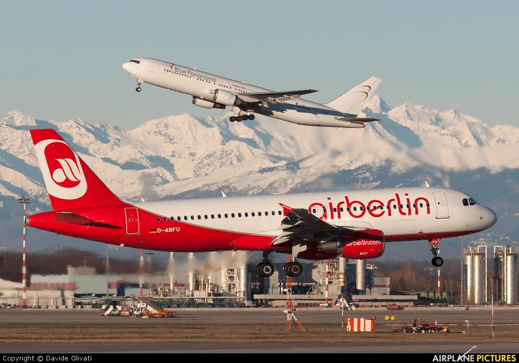 Air Berlin D-ABFU aircraft at Milan - Malpensa