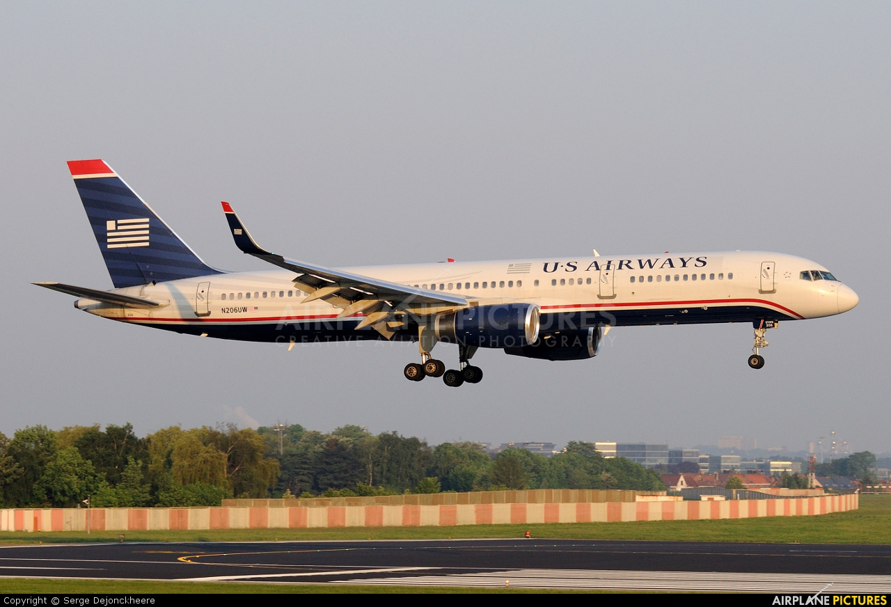 US Airways N206UW aircraft at Brussels - Zaventem