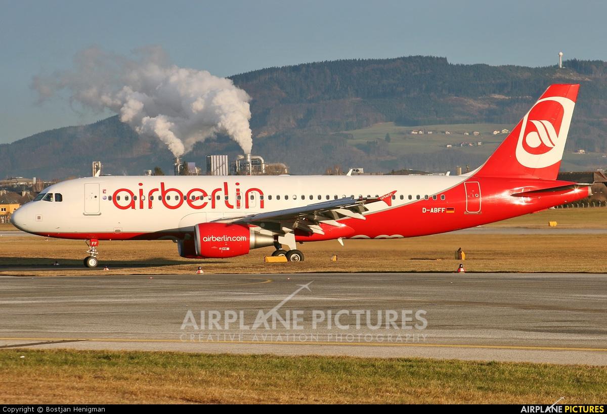 Air Berlin D-ABFF aircraft at Salzburg