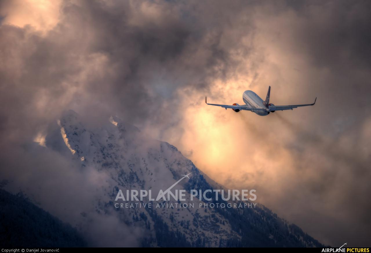 Jet Time OY-JTB aircraft at Innsbruck