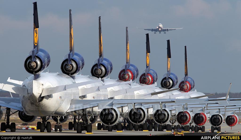 Lufthansa Cargo D-ALCL aircraft at Frankfurt