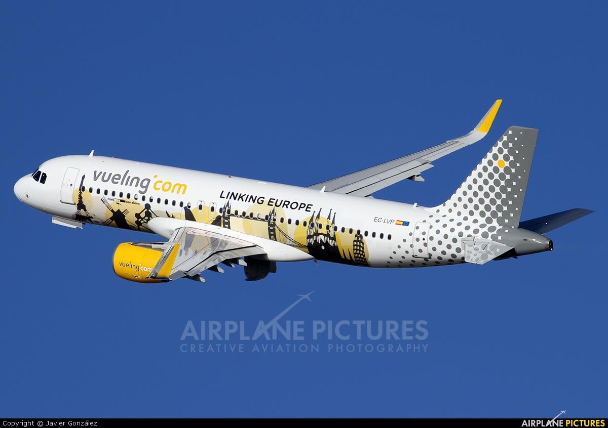 Vueling Airlines EC-LVP aircraft at Barcelona - El Prat