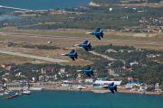 """10 - Russia - Air Force """"Russian Knights"""" Sukhoi Su-27 aircraft"""