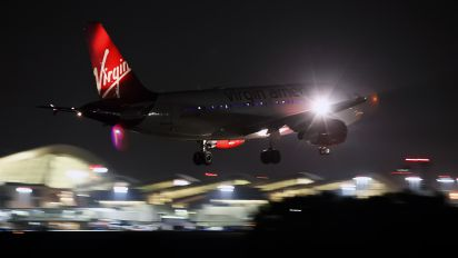 N528VA - Virgin America Airbus A319