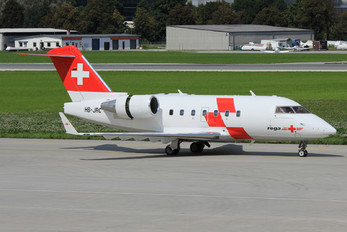 HB-JRC - REGA Swiss Air Ambulance  Canadair CL-600 Challenger 604
