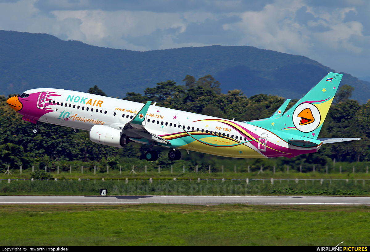 Nok Air HS-DBQ aircraft at Mae Fah Luang–Chiang Rai