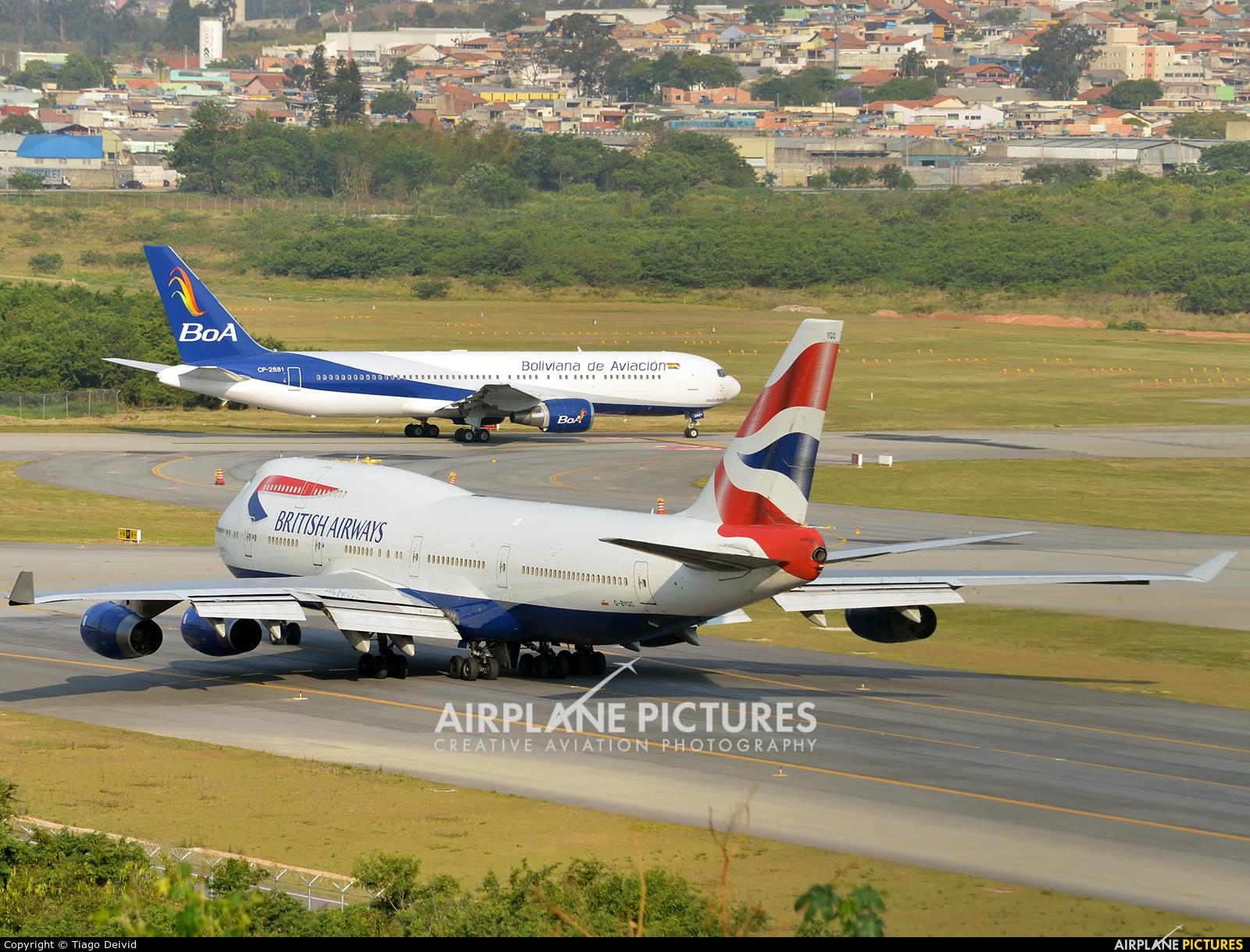 British Airways G-BYGC aircraft at São Paulo - Guarulhos