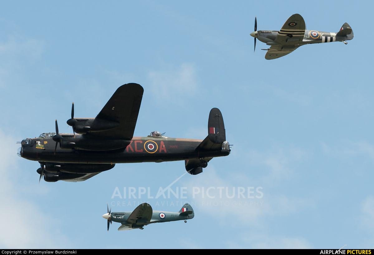 """Royal Air Force """"Battle of Britain Memorial Flight&quot PA474 aircraft at Waddington"""