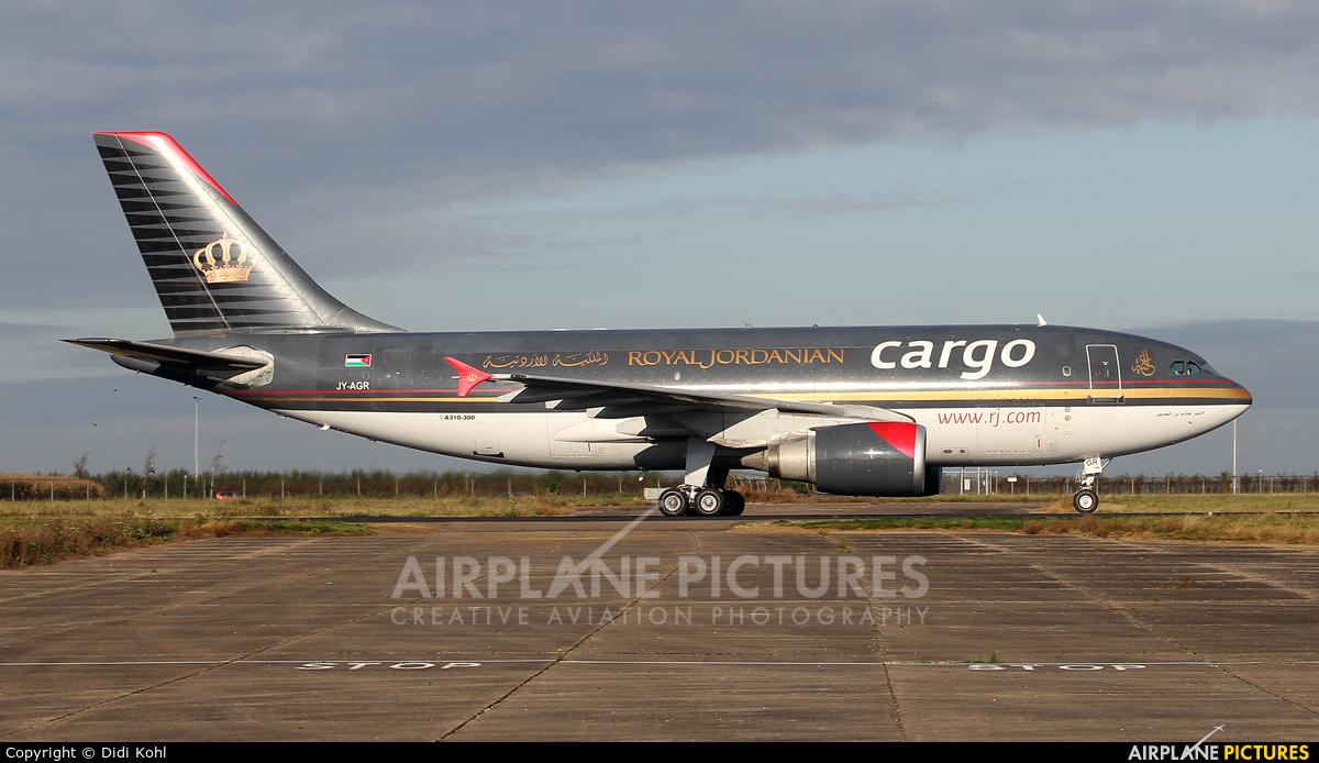 Royal Jordanian Cargo JY-AGR aircraft at Maastricht - Aachen