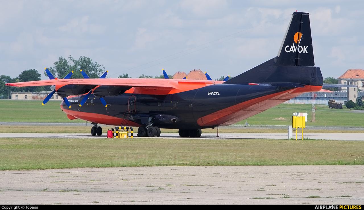 Cavok Air UR-CKL aircraft at Poznań - Ławica
