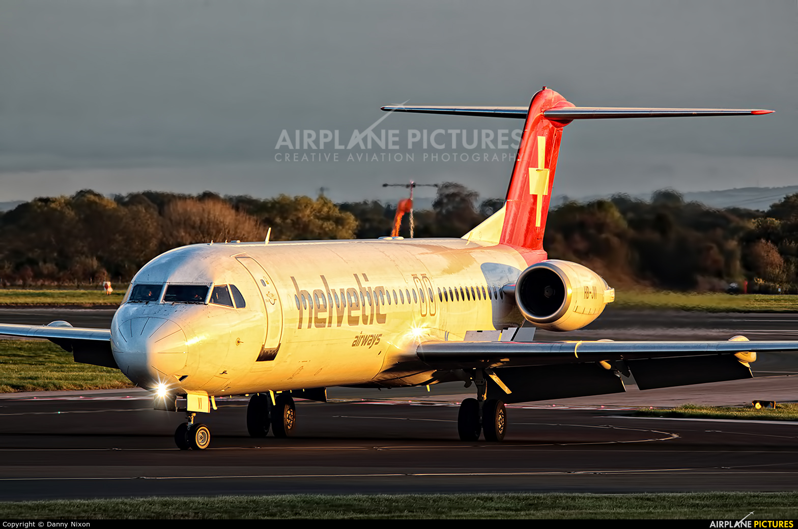 Helvetic Airways HB-JVI aircraft at Manchester
