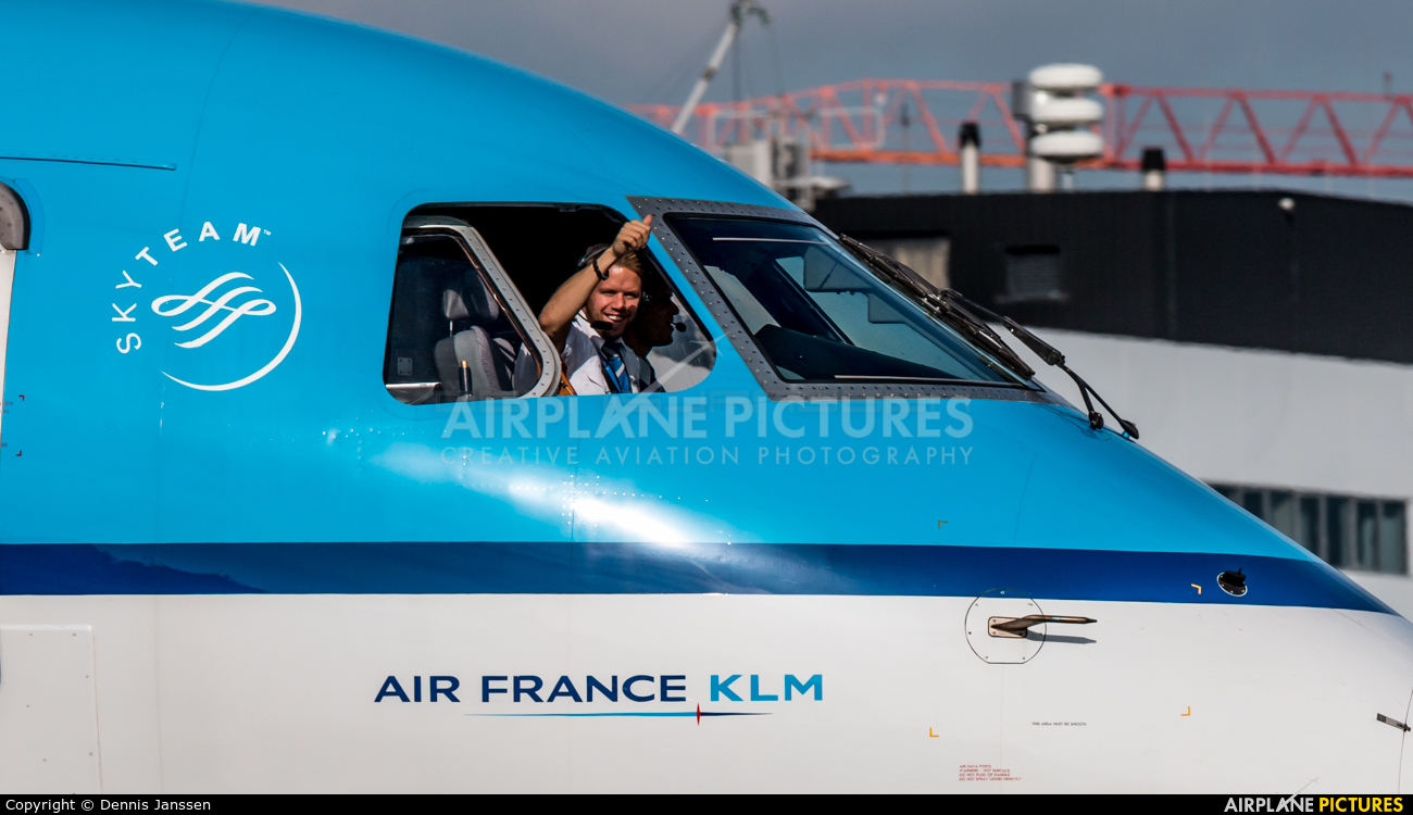 KLM Cityhopper PH-EZH aircraft at Amsterdam - Schiphol