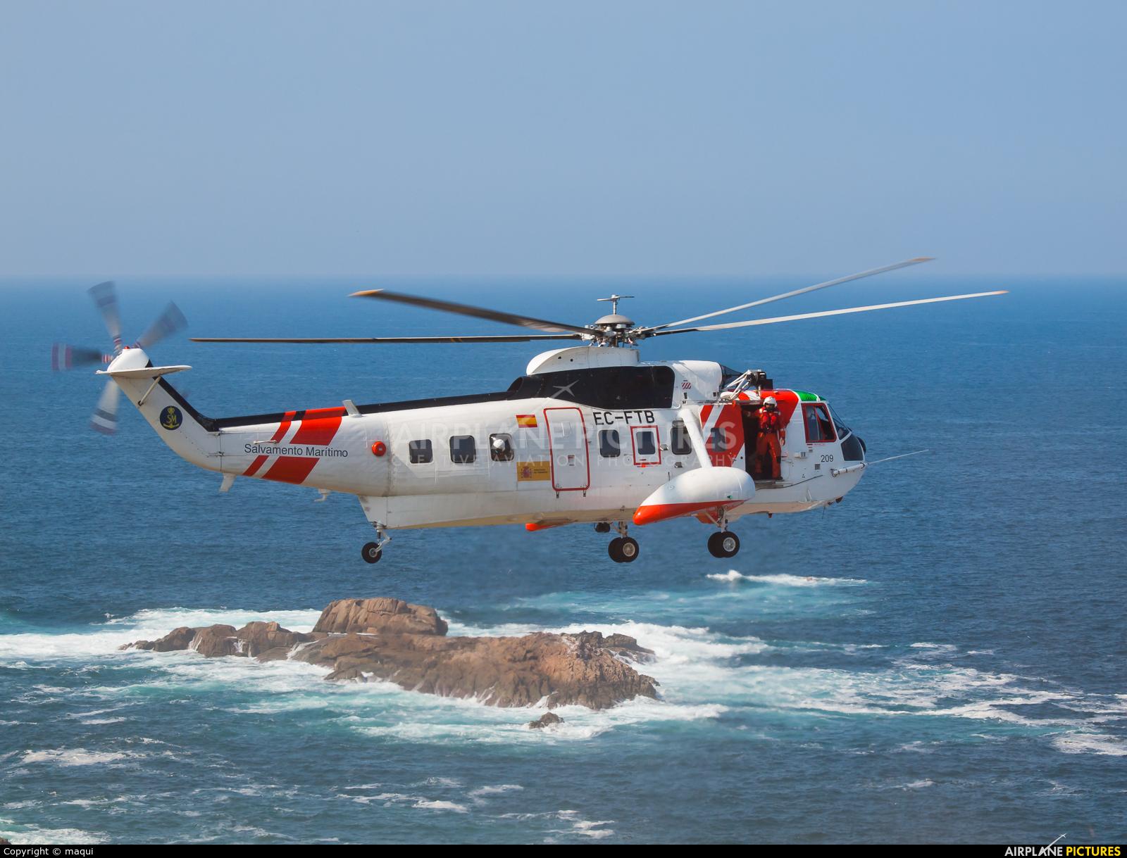 Spain - Coast Guard EC-FTB aircraft at La Coruña - Torre de Hercules