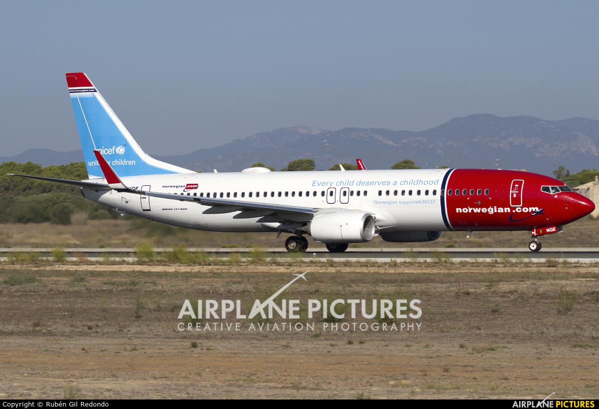 Norwegian Air Shuttle LN-NGE aircraft at Palma de Mallorca