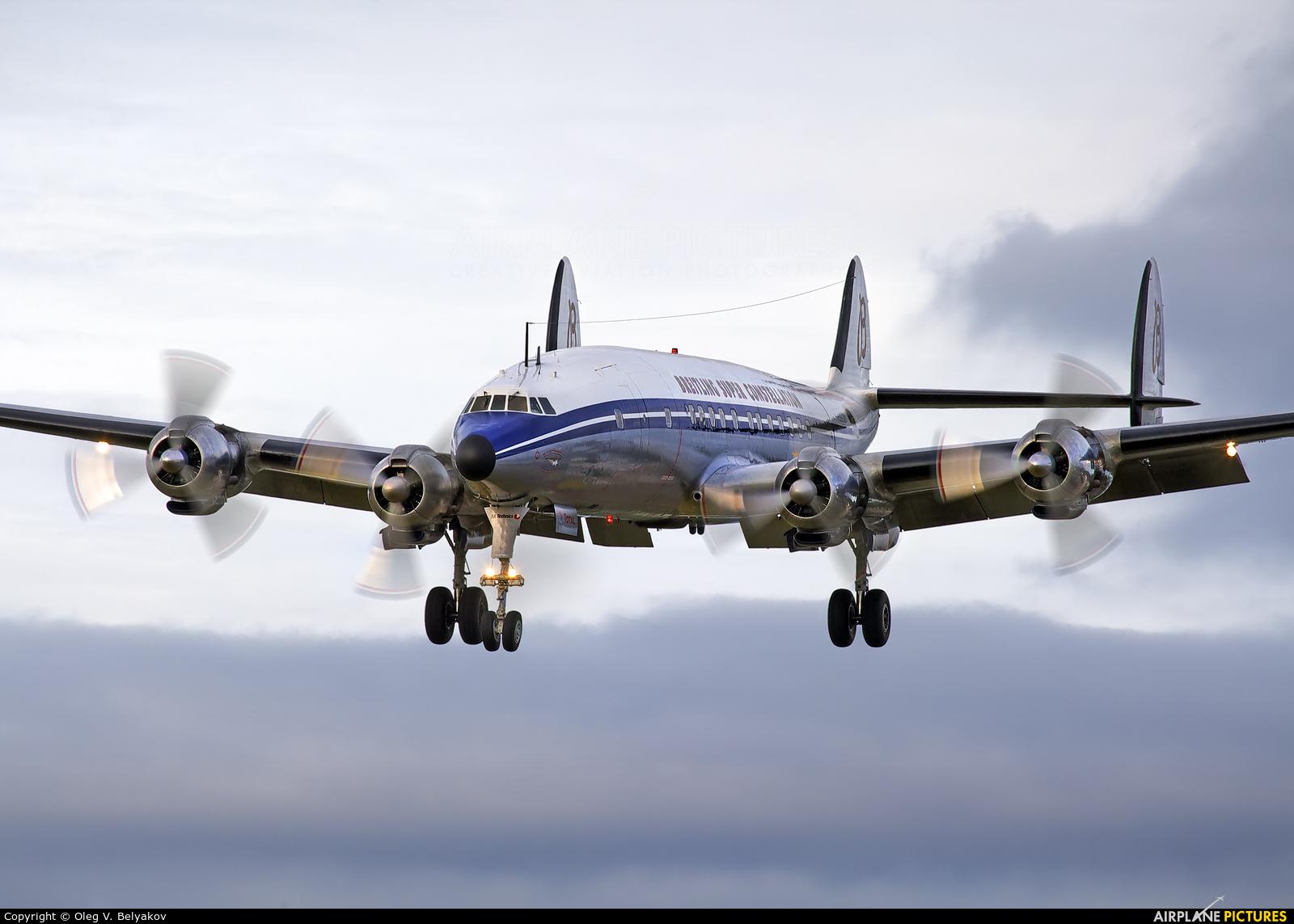 Super Constellation Flyers HB-RSC aircraft at Farnborough