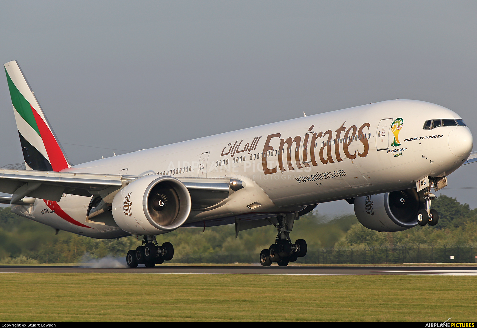 Emirates Airlines A6-ENB aircraft at Manchester