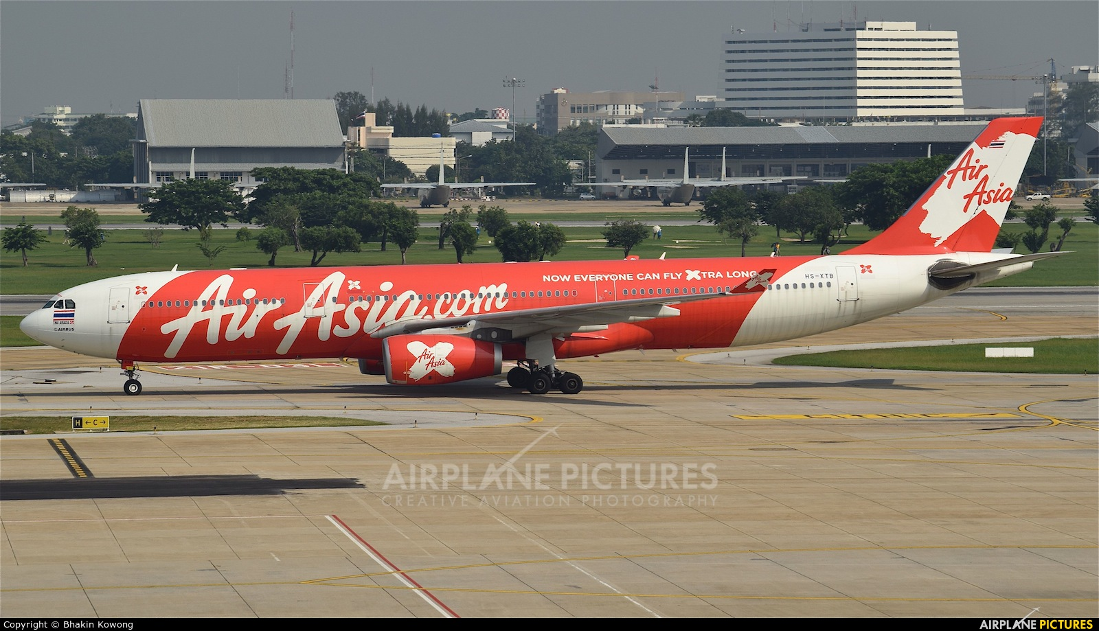 AirAsia X HS-XTB aircraft at Bangkok - Don Muang
