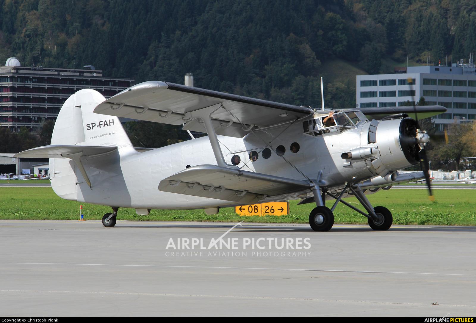 Classic Wings SP-FAH aircraft at Innsbruck