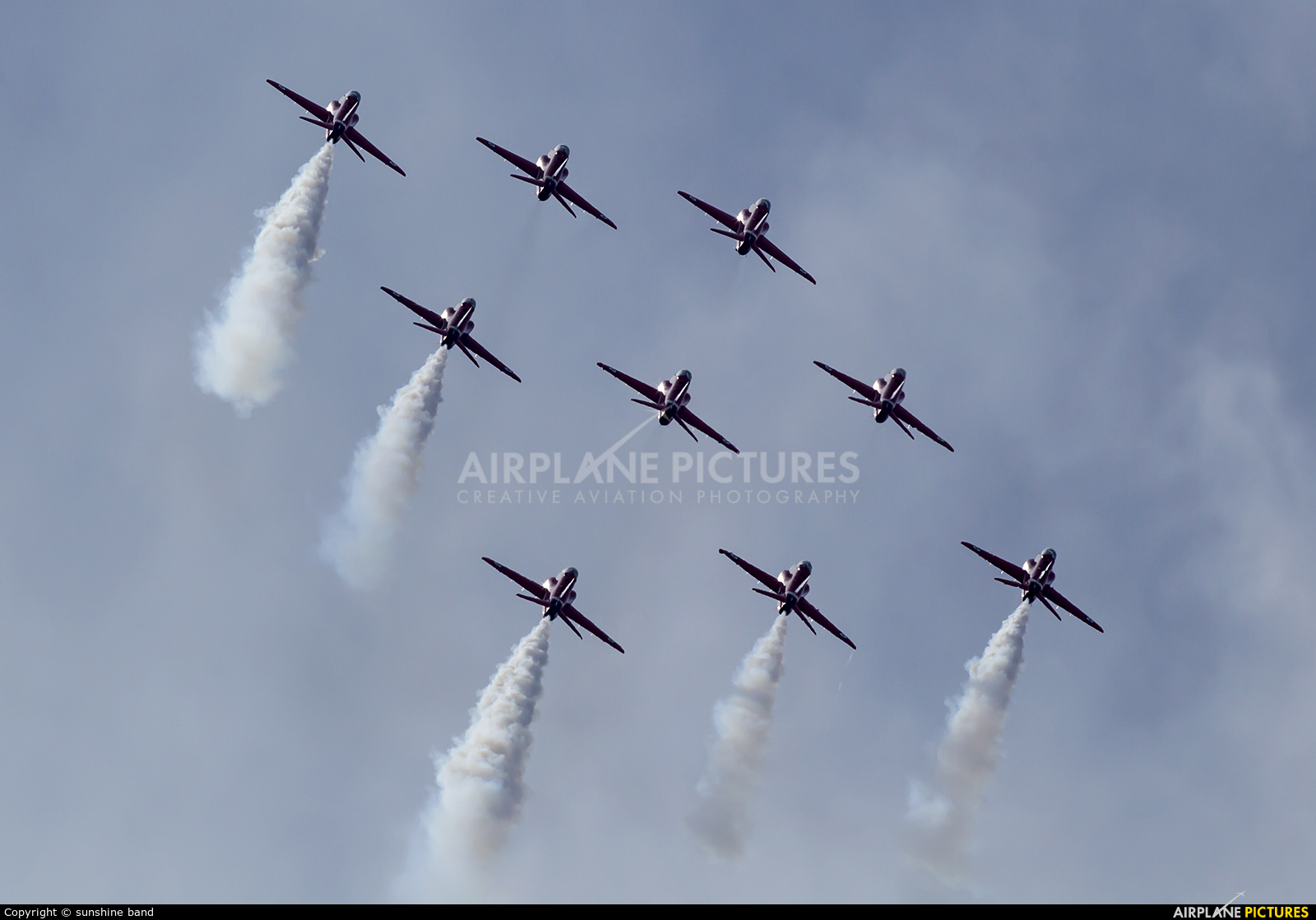 "Royal Air Force ""Red Arrows"" XX319 aircraft at Scampton"