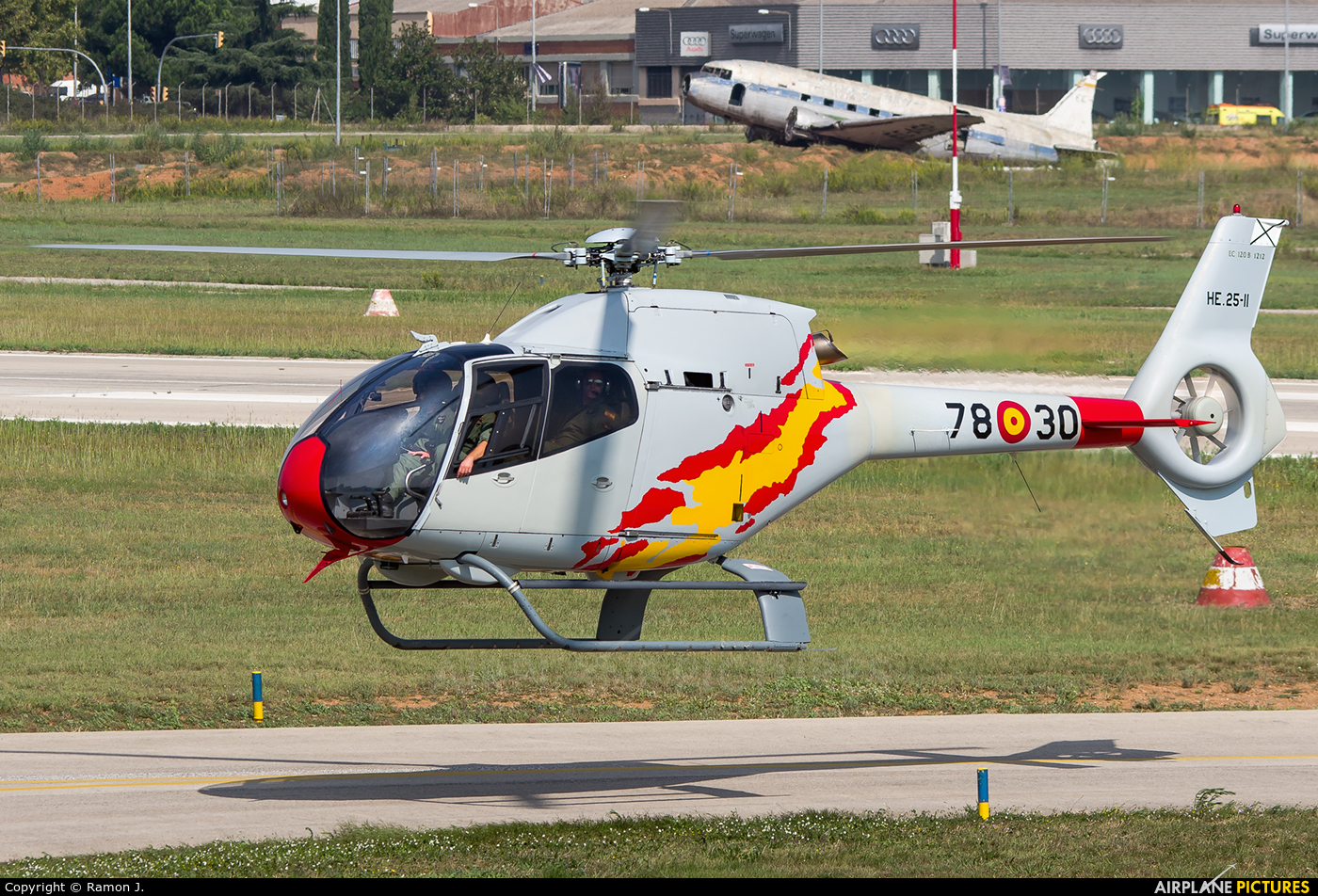 Spain - Air Force: Patrulla ASPA HE.25-11 aircraft at Sabadell