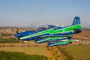 """1394 - Brazil - Air Force """"Esquadrilha da Fumaça"""" Embraer EMB-312 Tucano T-27"""