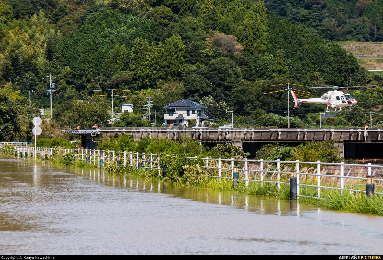 Nakanihon Air Service JA6602 aircraft at Shizuoka Heliport