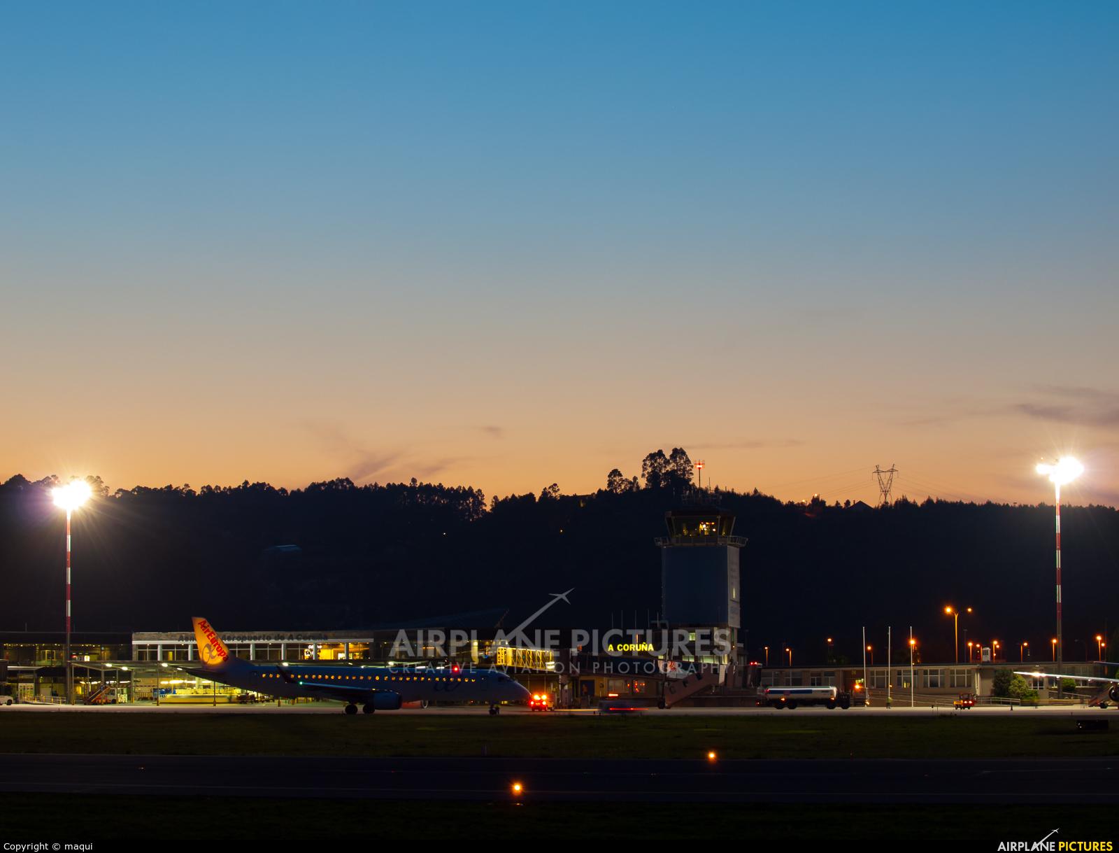 Air Europa EC-LKM aircraft at La Coruña