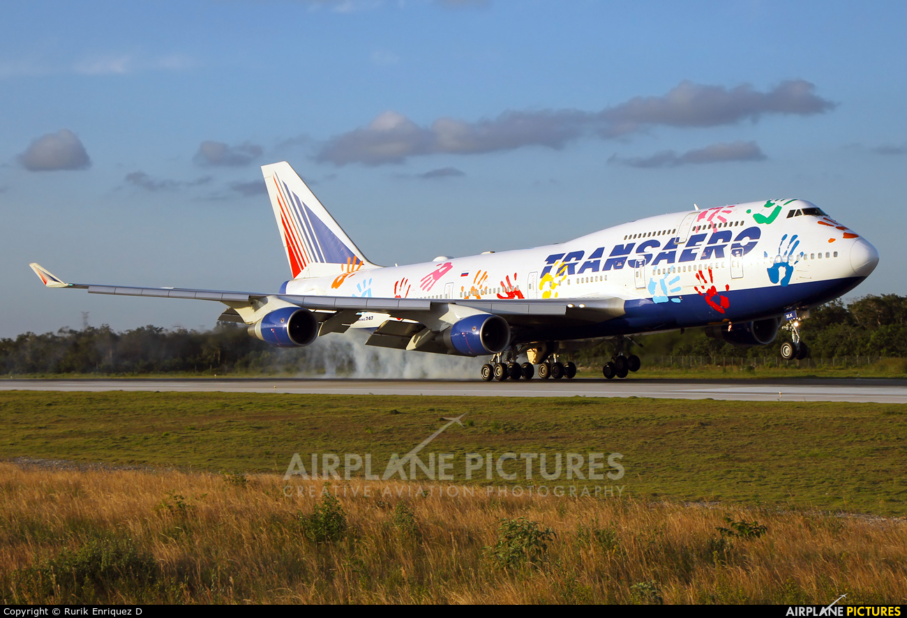 Transaero Airlines EI-XLK aircraft at Cancun Intl