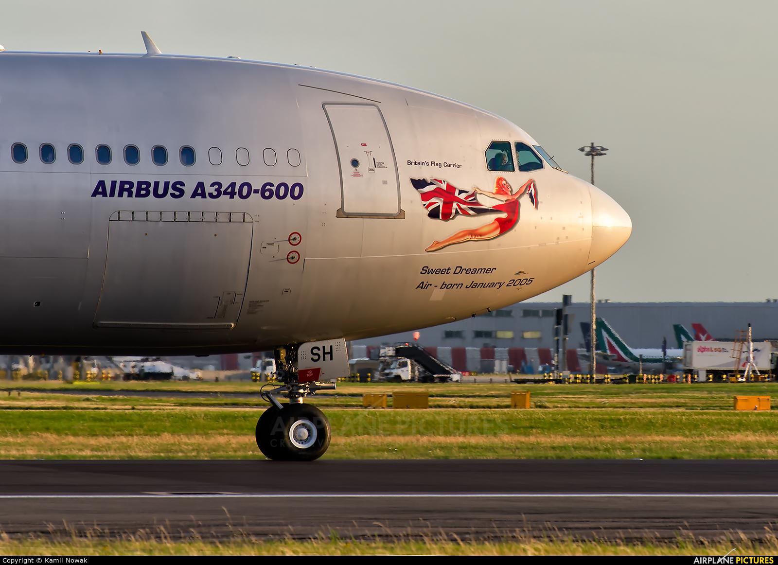 Virgin Atlantic G-VSSH aircraft at London - Heathrow