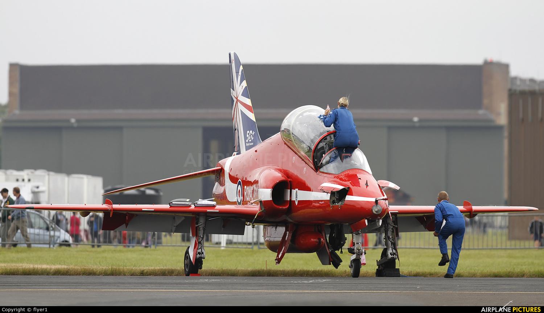 """Royal Air Force """"Red Arrows"""" XX319 aircraft at Waddington"""