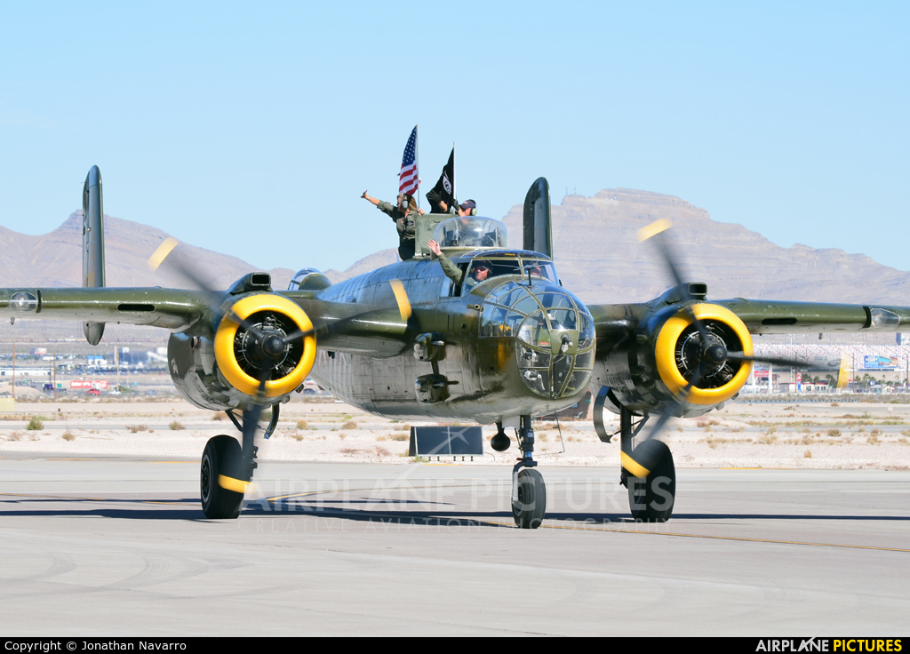 Private N30801 aircraft at Nellis AFB