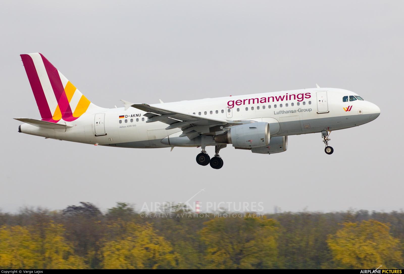 Germanwings D-AKNU aircraft at Budapest Ferenc Liszt International Airport