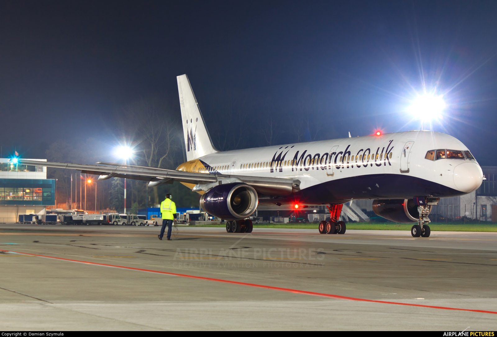 Monarch Airlines G-MONK aircraft at Kraków - John Paul II Intl