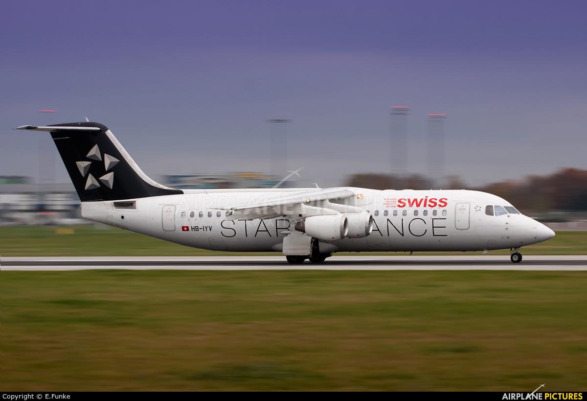 Swiss HB-IYV aircraft at Prague - Václav Havel
