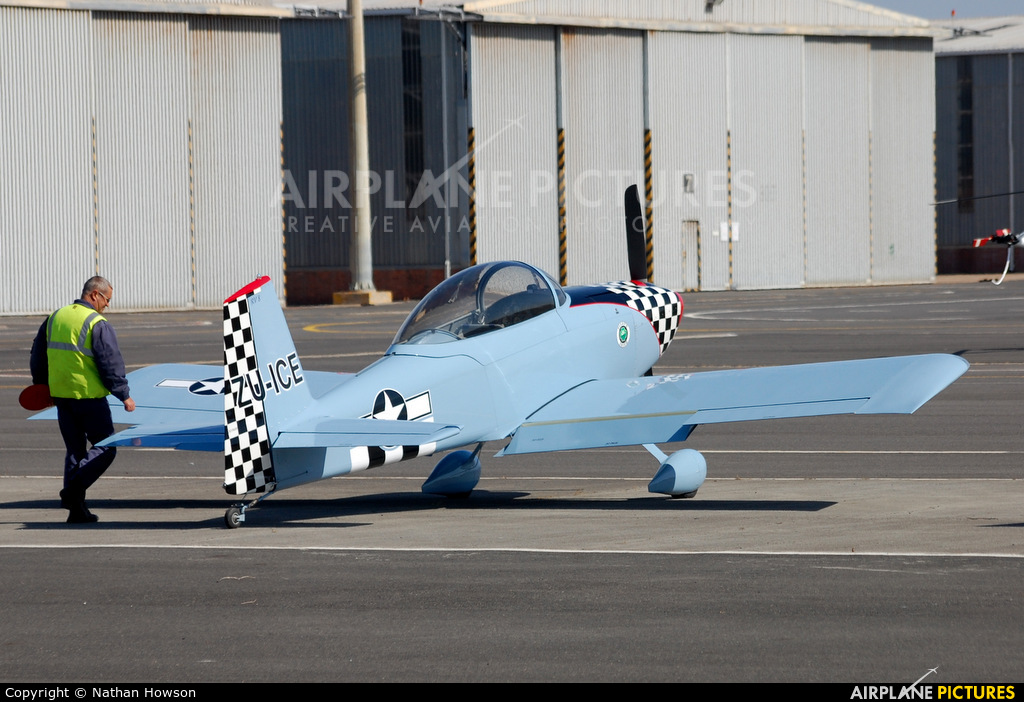 Private ZU-ICE aircraft at Ysterplaat - Cape Town