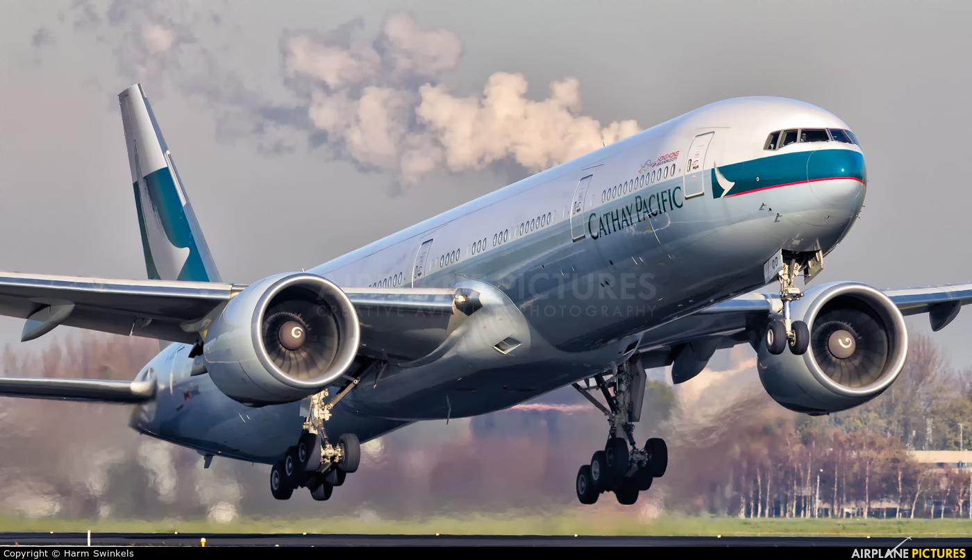 Cathay Pacific B-KQD aircraft at Amsterdam - Schiphol