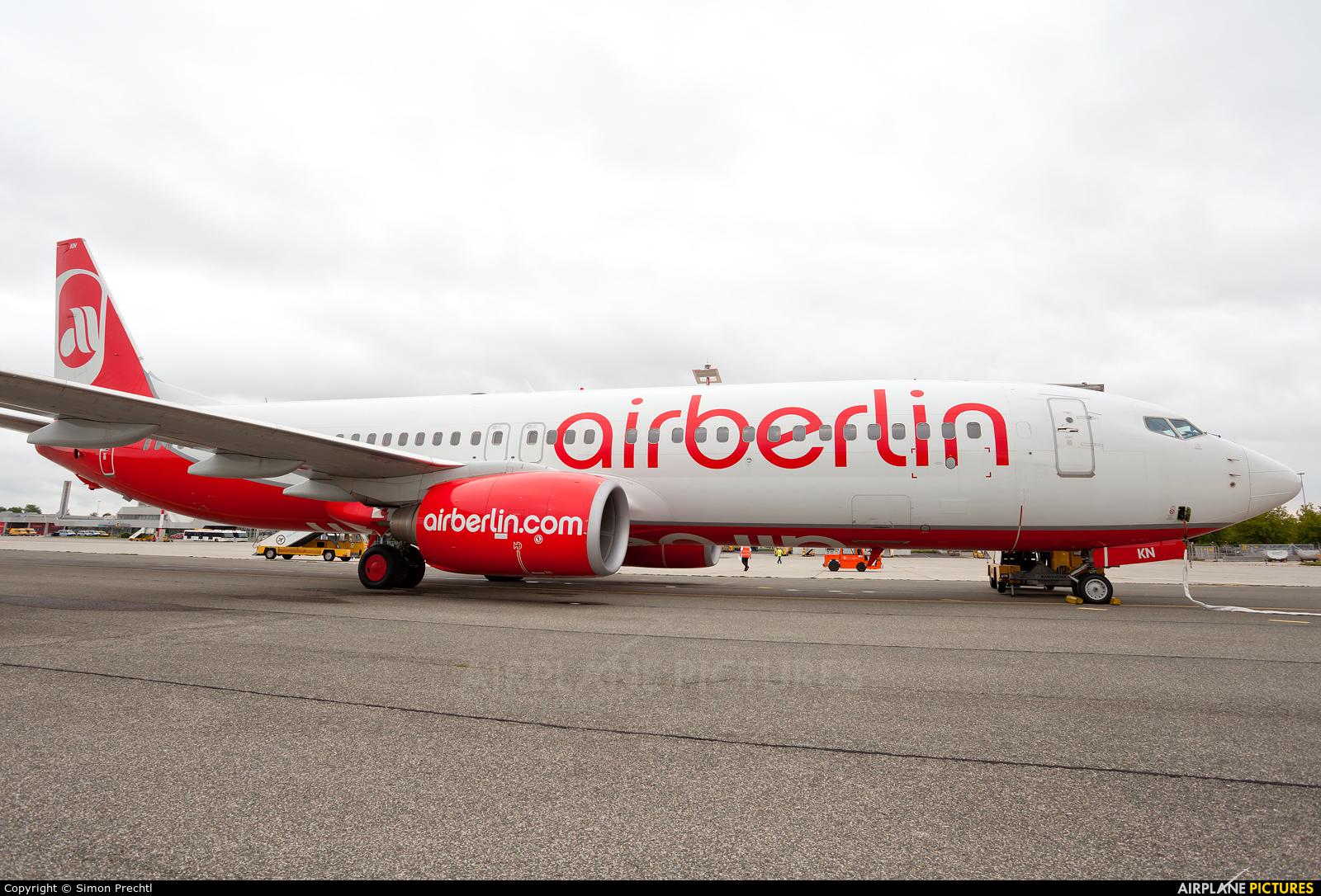 Air Berlin D-ABKN aircraft at Linz