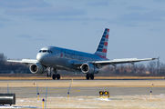First American Airlines A319 in Grand Forks title=