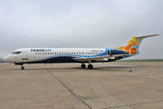 Trade Air Fokker 100 brand new livery title=