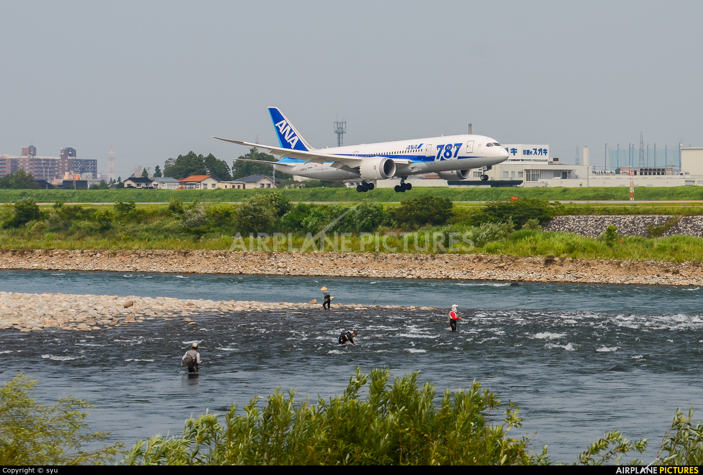 ANA - All Nippon Airways JA807A aircraft at Toyama