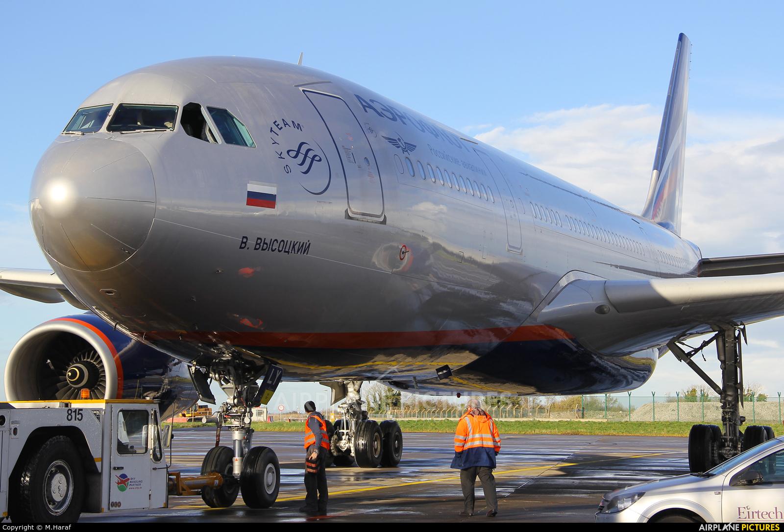 Aeroflot VP-BLY aircraft at Dublin