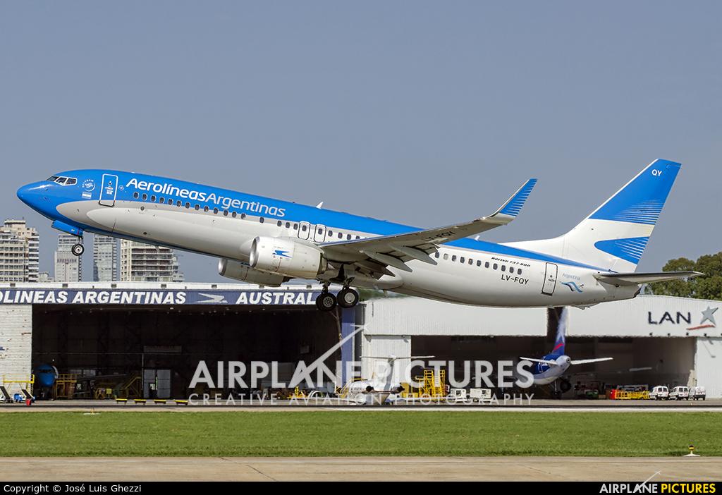 Aerolineas Argentinas LV-FQY aircraft at Buenos Aires - Jorge Newbery